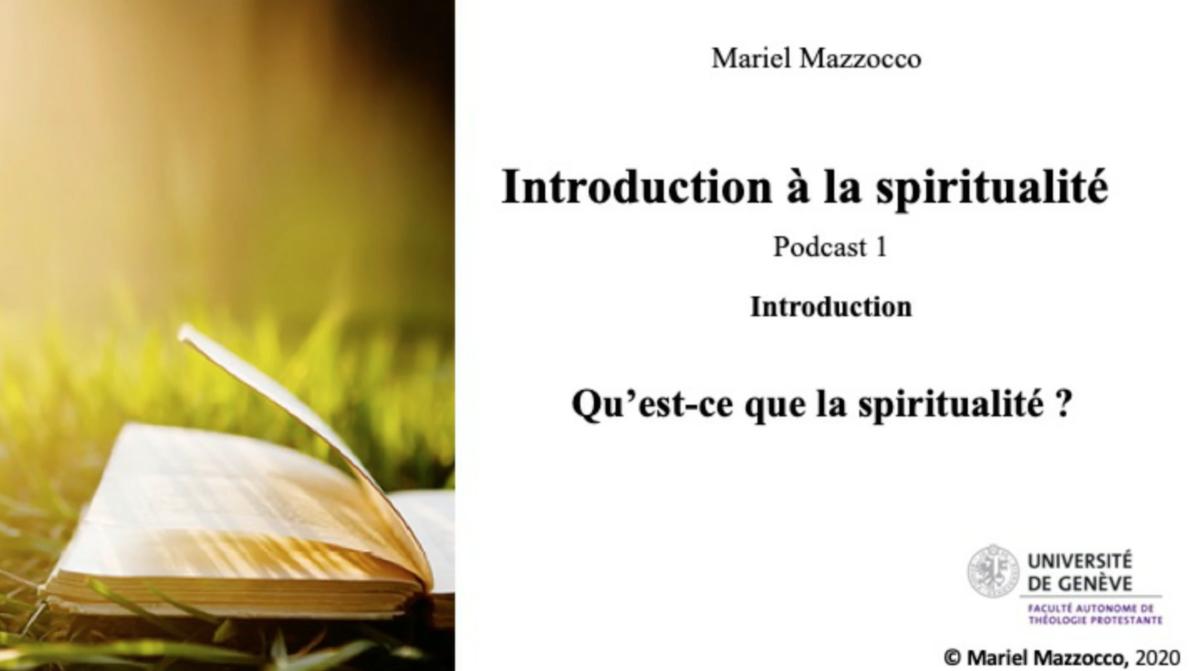Une introduction à la spiritualité ?
