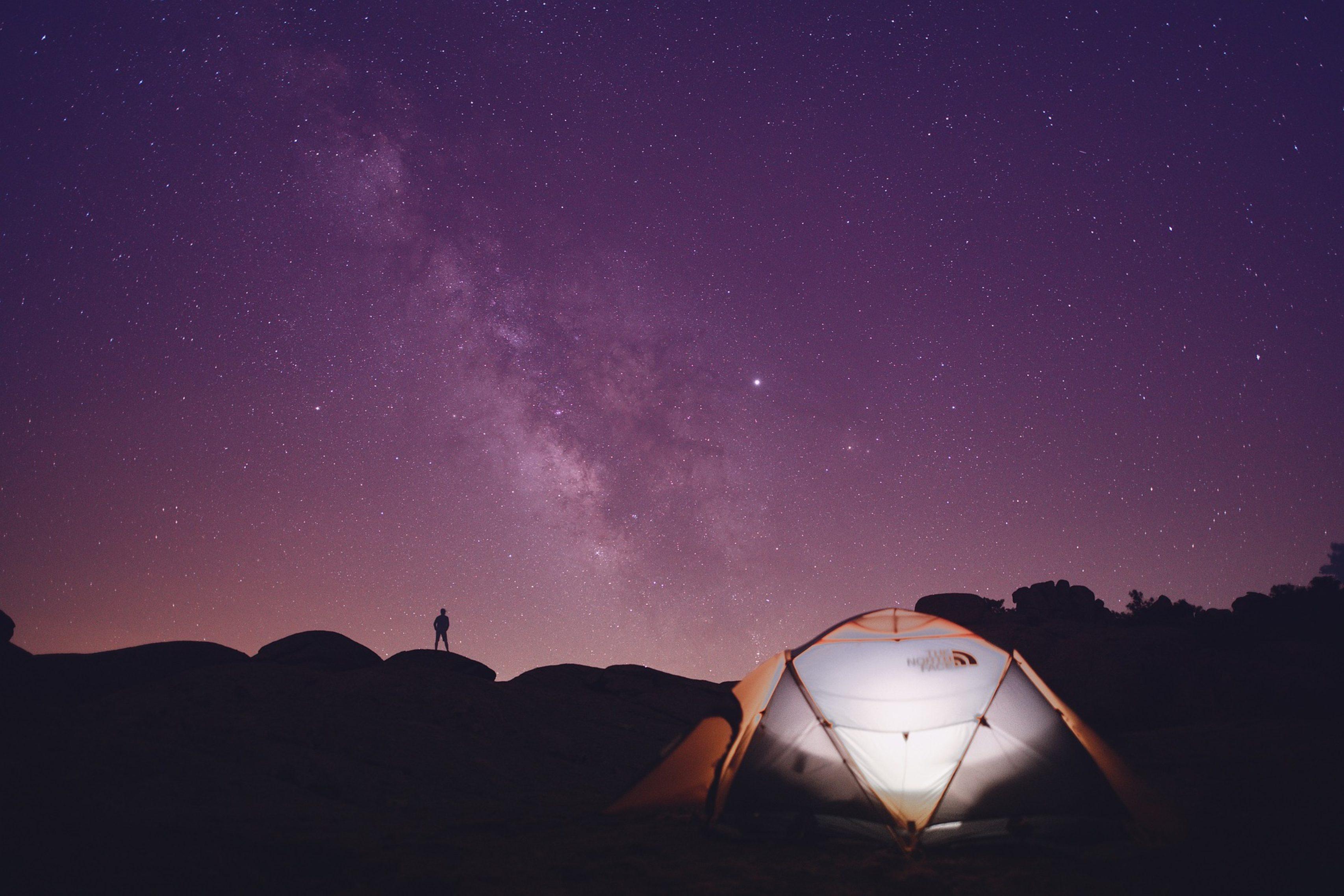 Dans la tente…