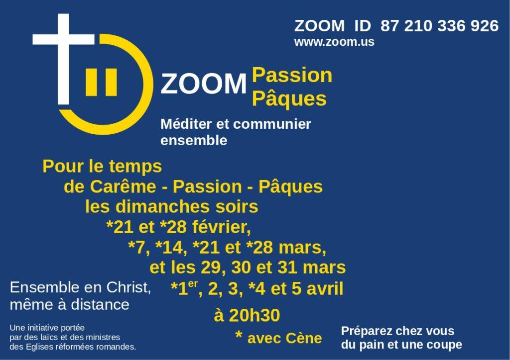 ZOOM Passion Pâques 2021